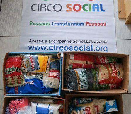 Circo Social realiza entrega de alimentos