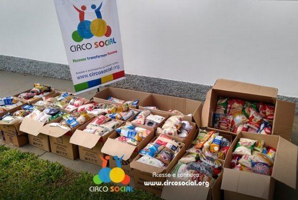Circo Social distribuirá cestas básicas com alimentos arrecadados no Cineplus Emacite